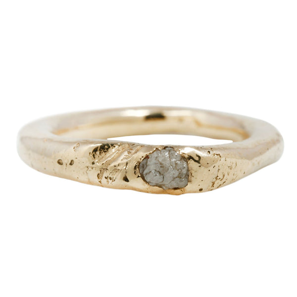 Nan Collymore Raw White Diamond Teena Ring Yellow Gold