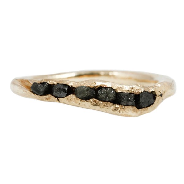 Nan Collymore Black Diamond Sister Ring Yellow Gold
