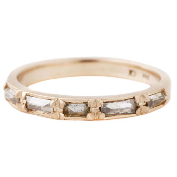 Rebecca Overmann Inverted Diamond Baguette Band in Yellow Gold