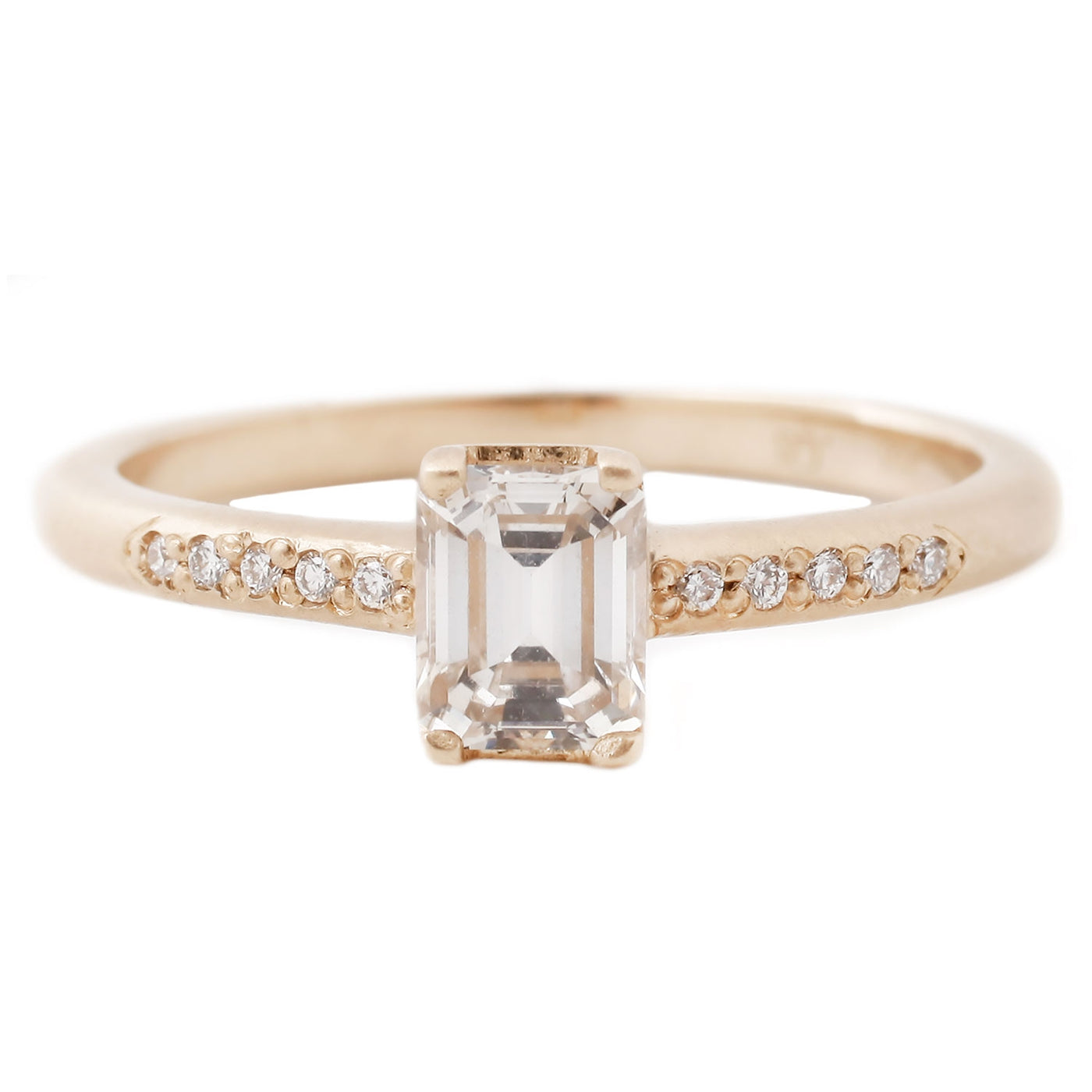 Rebecca Overmann Emerald Cut Diamond Ring