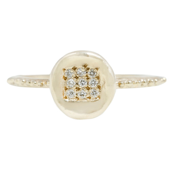 Pavé Button Ring