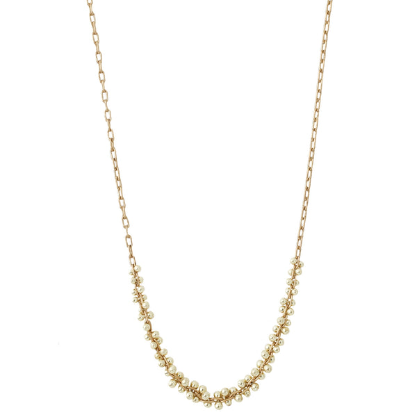 TenThousandThings 18k Gold Beaded Center Cluster Necklace