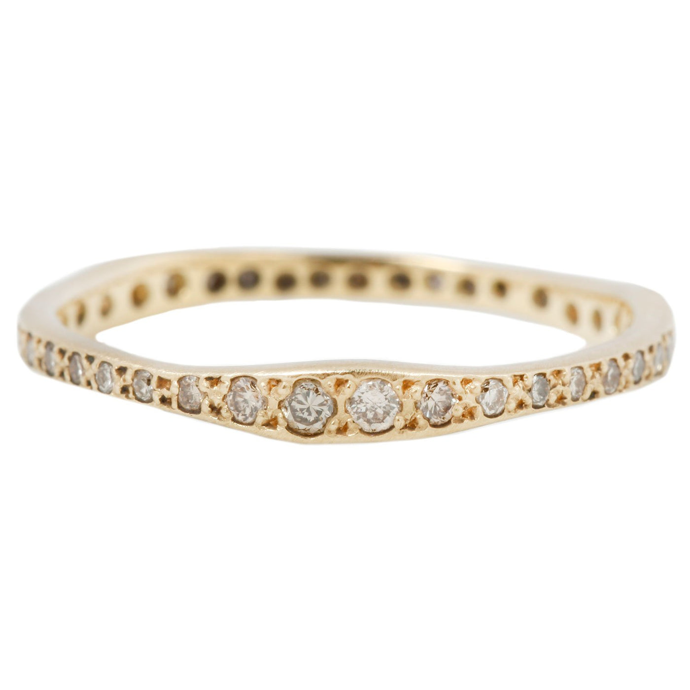 Satomi Kawakita Brown Diamond Ripple Eternity Band