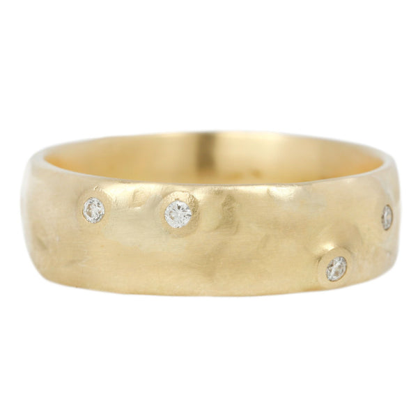 Johnny Ninos Wide Organic Diamond Band