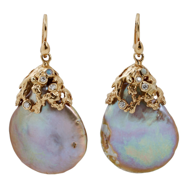 Kimberlin Brown Pearl Drop Earrings