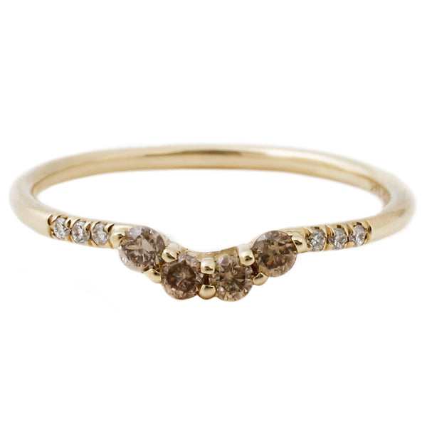 Jennie Kwon Arched Champagne Diamond Band