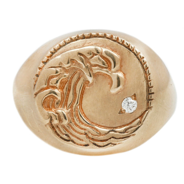 Susan Highsmith Aquarius Signet Ring