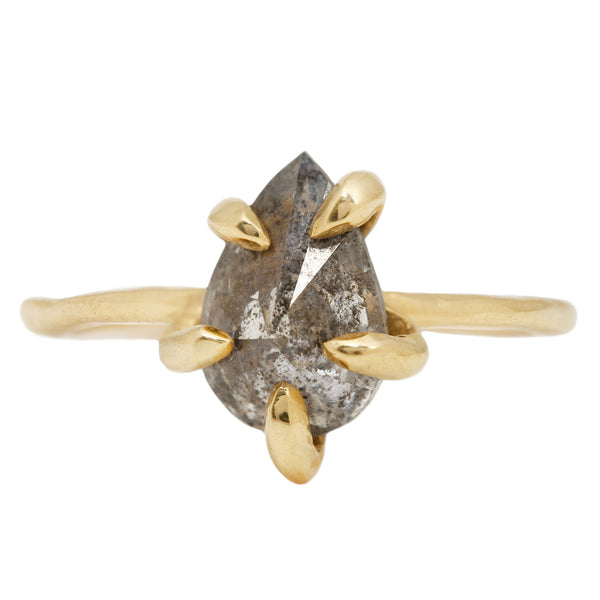 Lauren Wolf Tempest Diamond Solitaire Ring in Yellow Gold