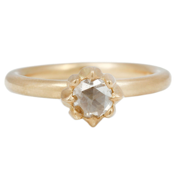 Susan Highsmith Diamond Solitaire Fleur Ring