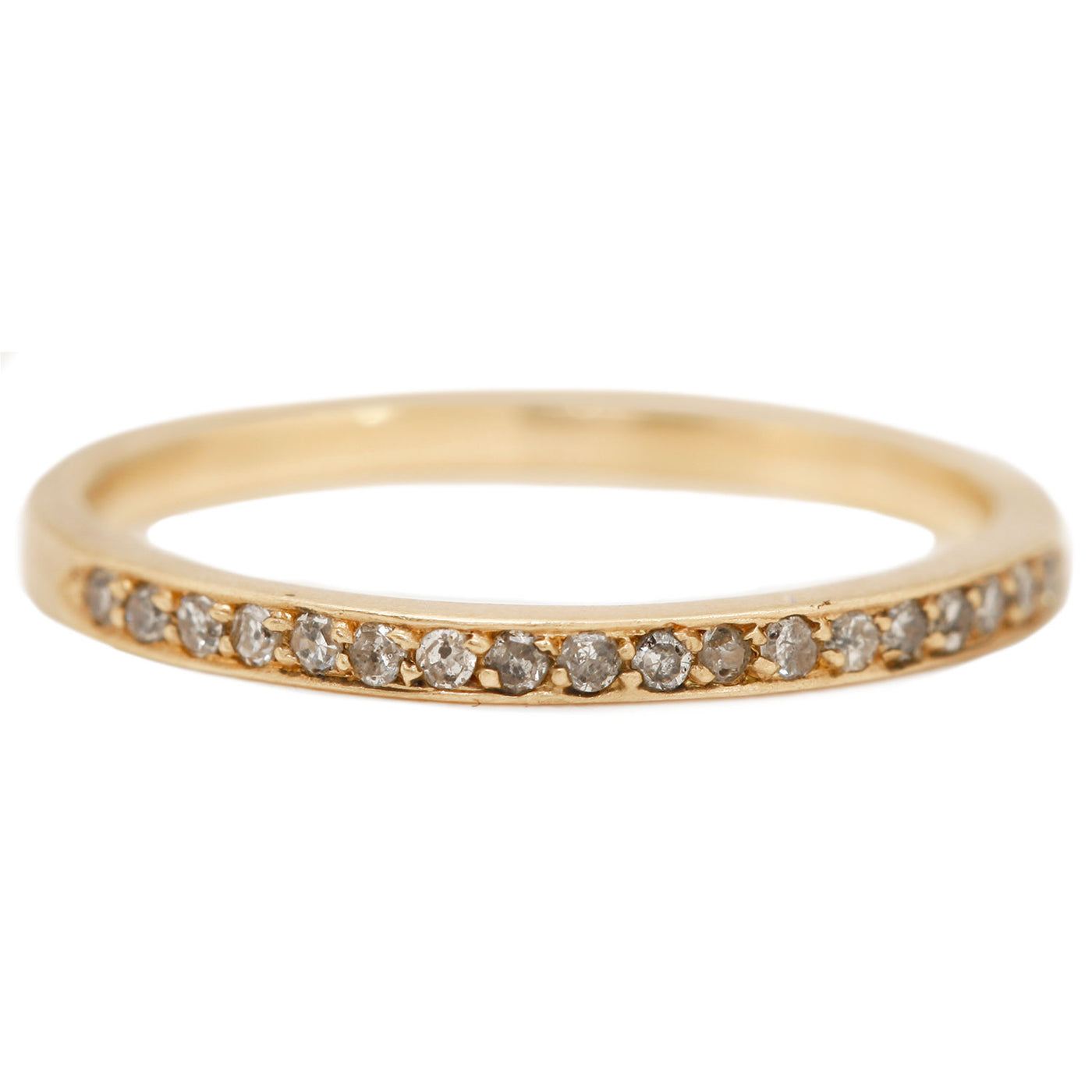 Rebecca Overmann Fancy Pave Half Eternity Band yellow gold