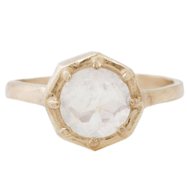 Lauren Wolf Yellow Gold Rainbow Moonstone Ring