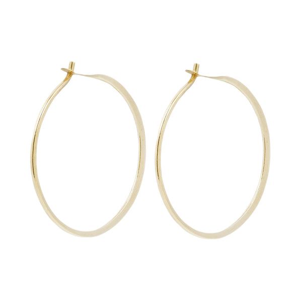 Melissa Joy Manning Yellow Gold Round Hoops