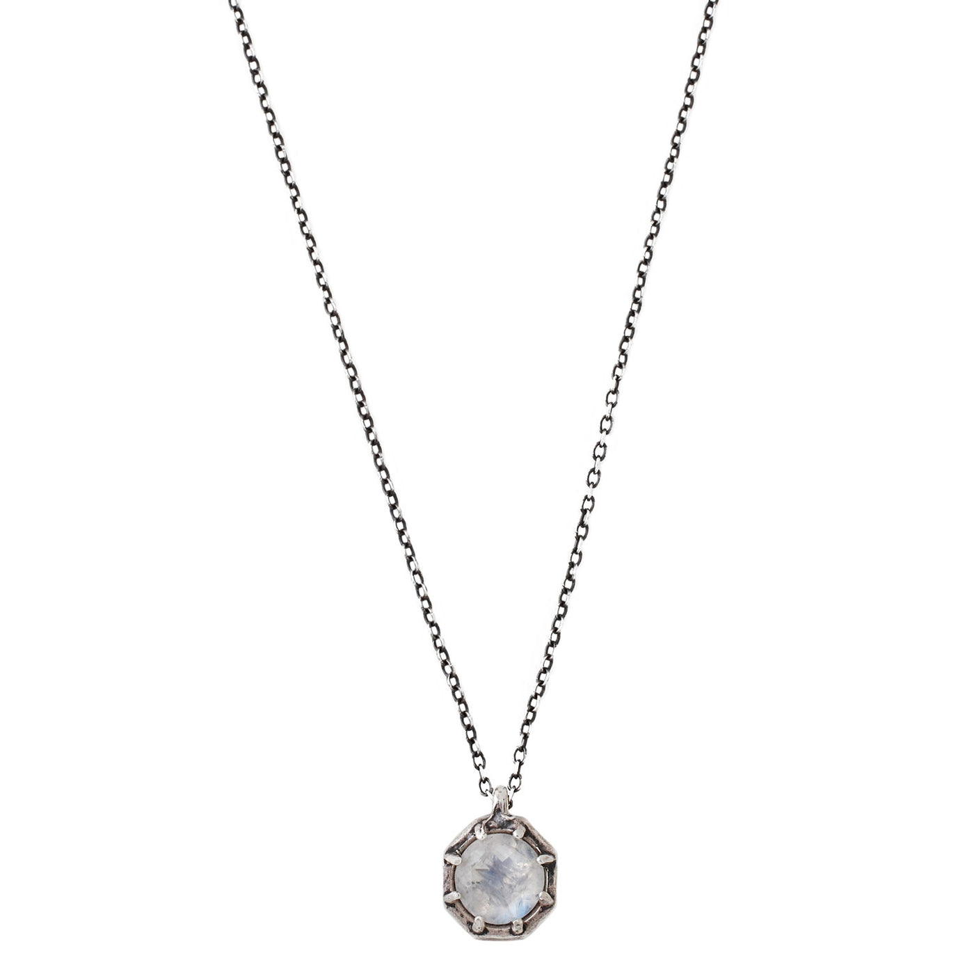 Lauren Wolf Jewelry Rainbow Moonstone Necklace in Silver