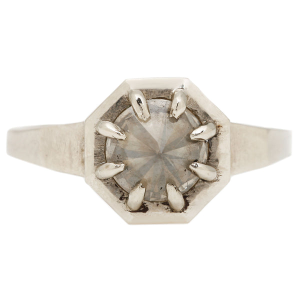 Lauren Wolf Palisade Diamond Solitaire Ring in White Gold