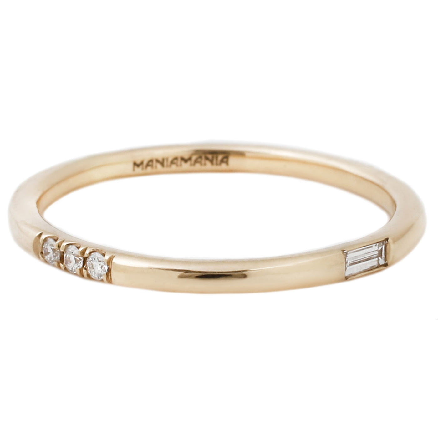 ManiaMania Immersion Band in Yellow Gold With White Diamonds