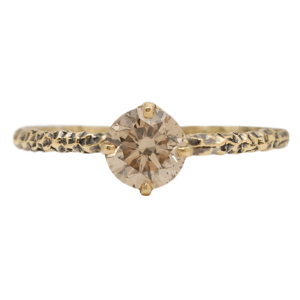 Satomi Kawakita Homespun Brown Sugar Diamond Ring