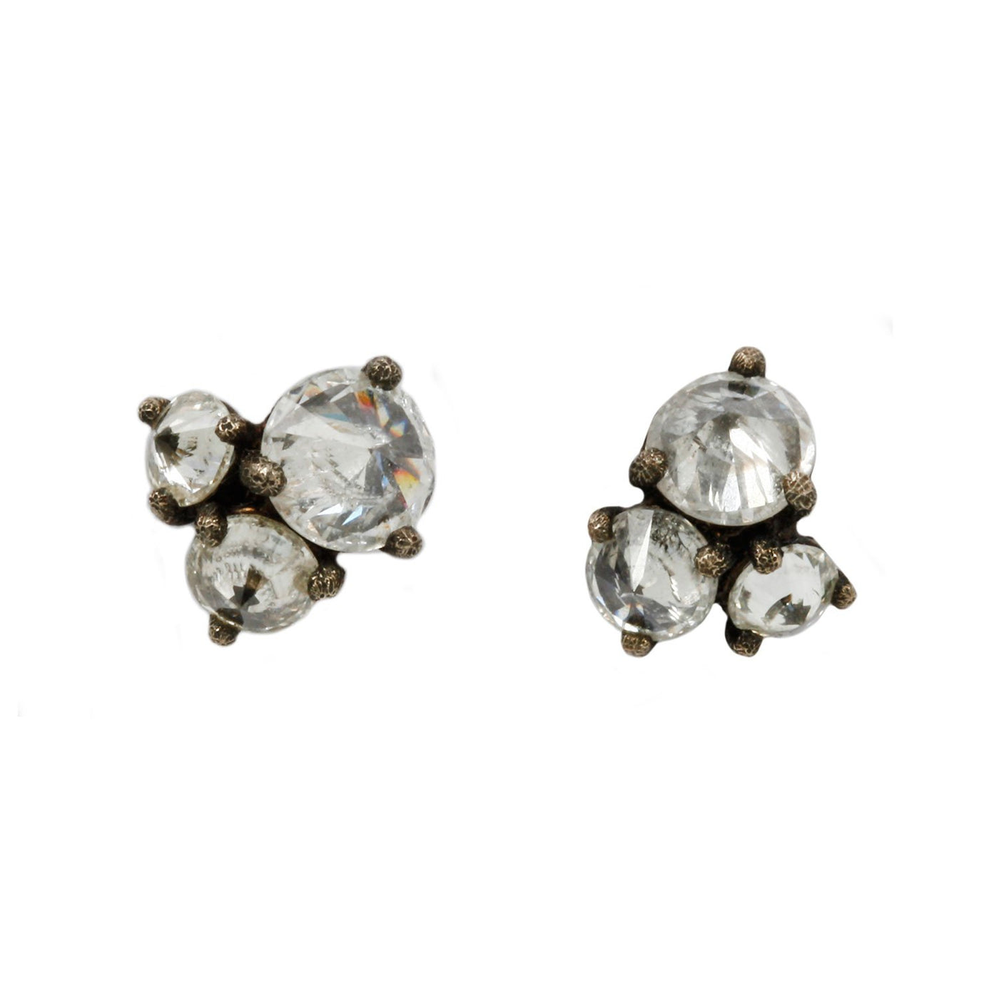 Tap by Todd Pownell Inverted Diamond Prong Studs