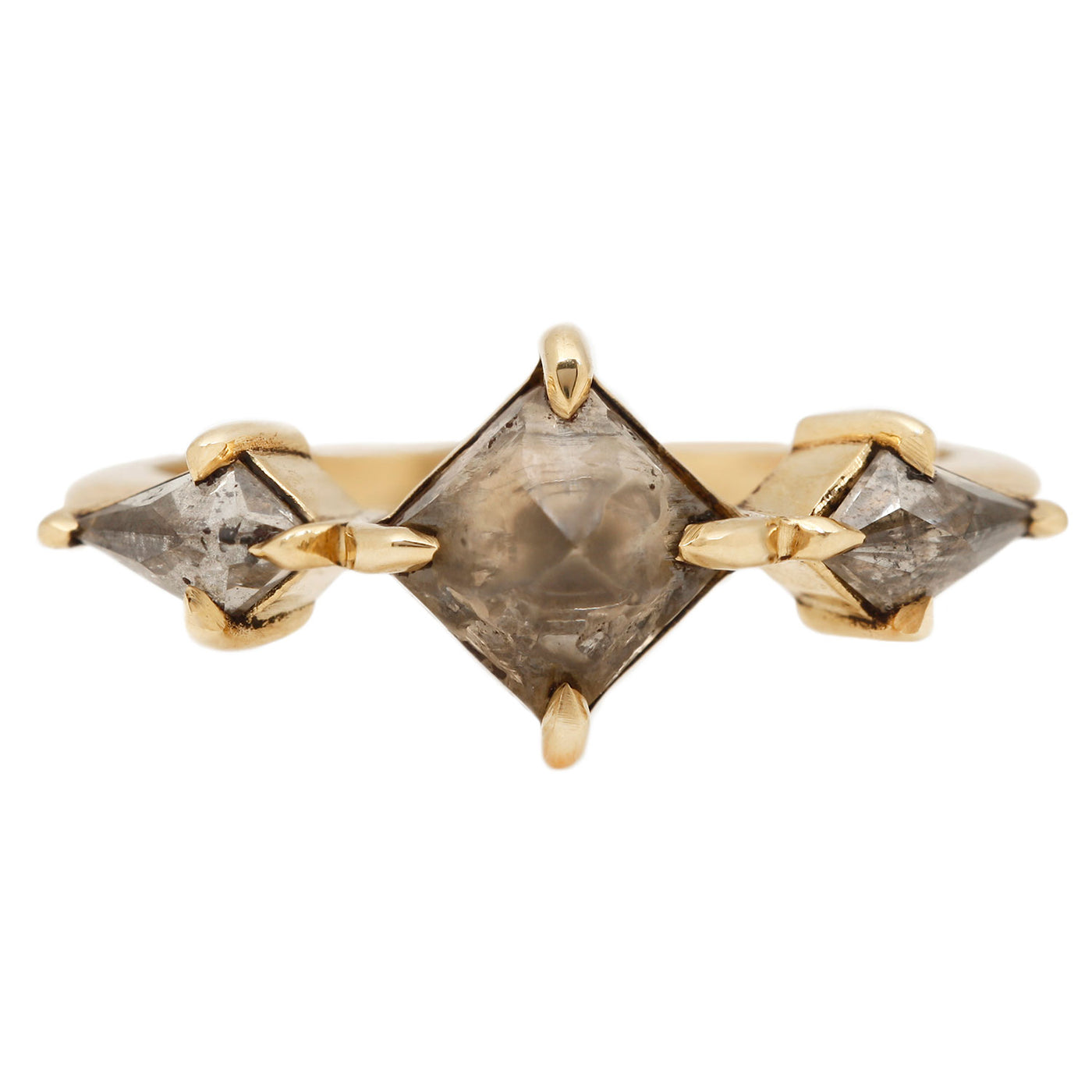 Lauren Wolf Marduk Three Diamond Ring in Yellow Gold