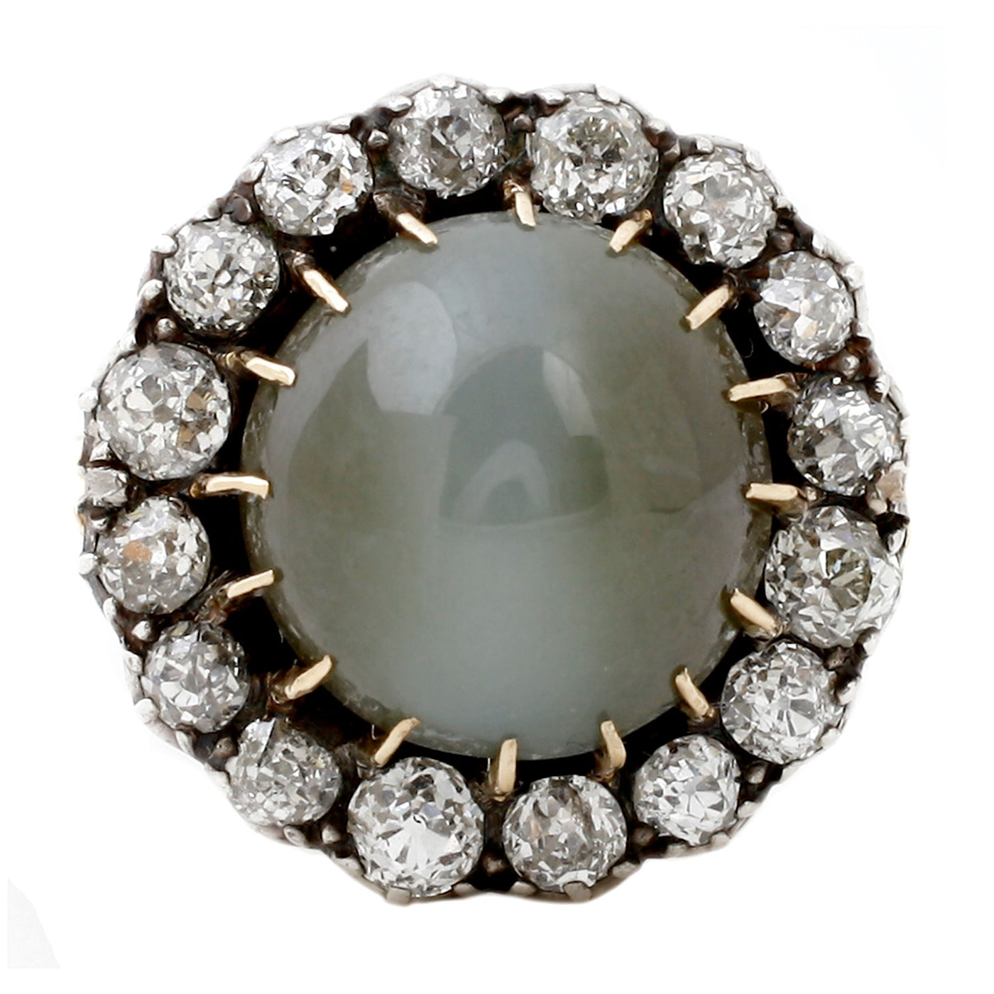 Cats Eye Diamond Ring