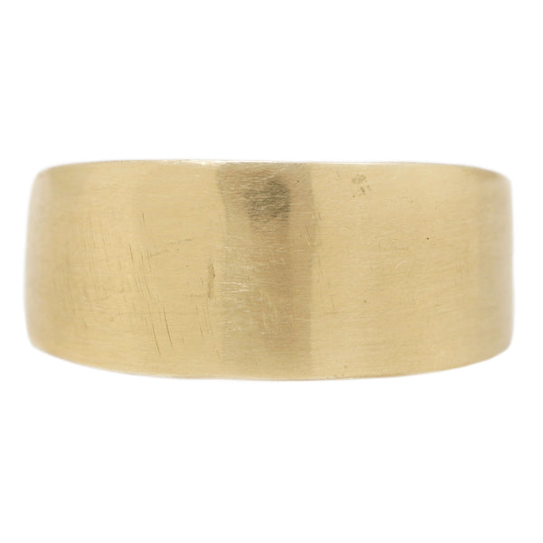 Adeline Jewelry Taper Solid 14k Yellow Gold Cigar Band