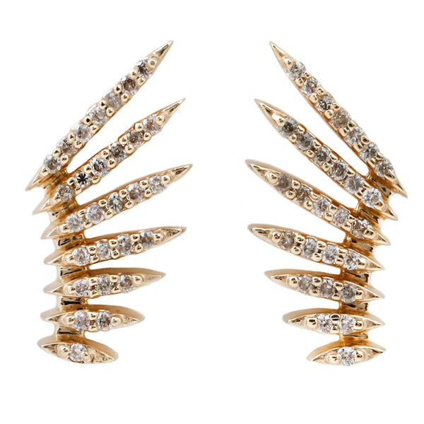 Celine D'Aoust Diamond Pavé Winged Earrings