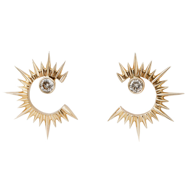 Celine D'Aoust Sun And Moon Earrings