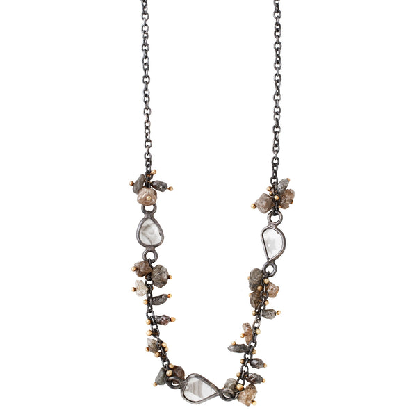 Triple Rough Diamond Necklace