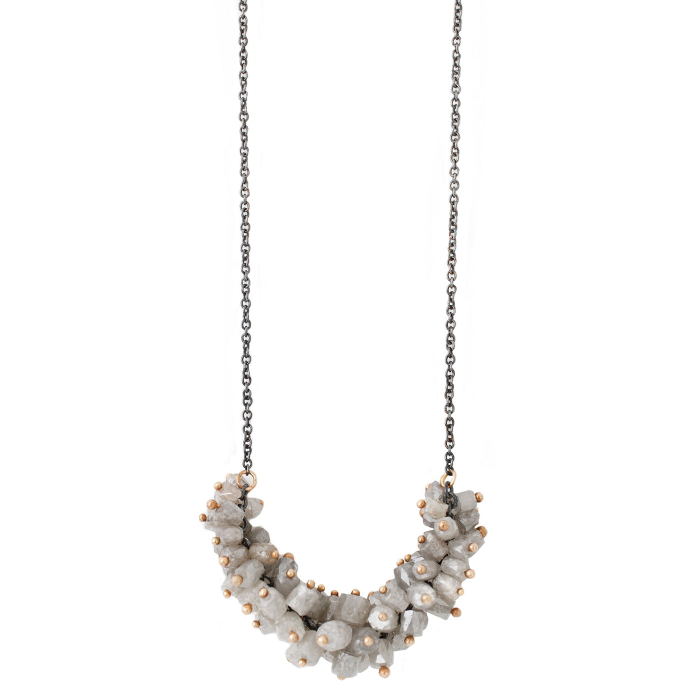 Rebecca Overmann Raw Grey Diamond Necklace