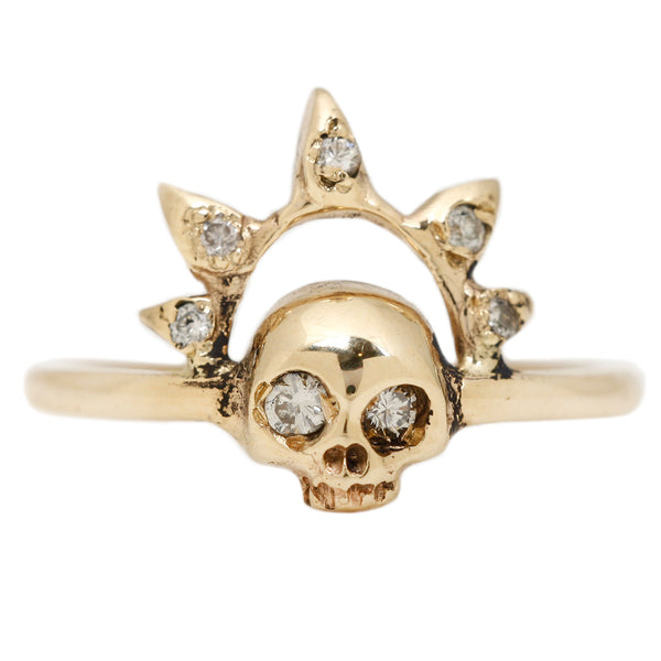 Skull Queen Diamond Ring