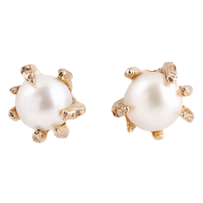 White Pearl Studs