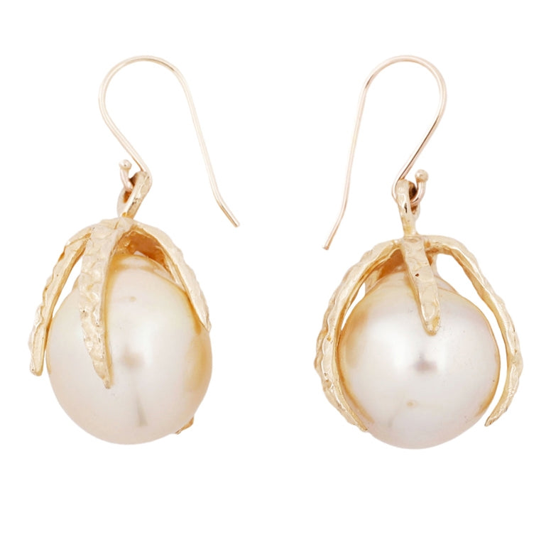 Lauren Wolf Jewelry White Pearl Drop Earrings
