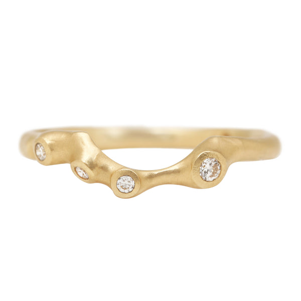 Diamond Barnacle Contour Ring
