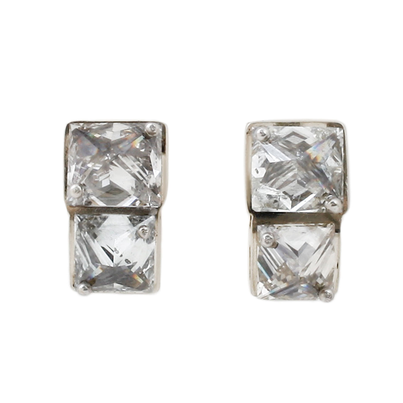 TAP by Todd Pownell White Diamond Stud Earrings
