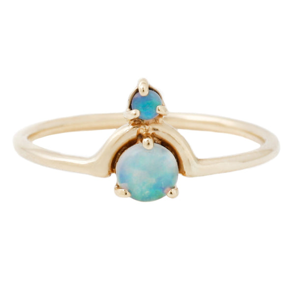 Wwake Nested Opal Ring