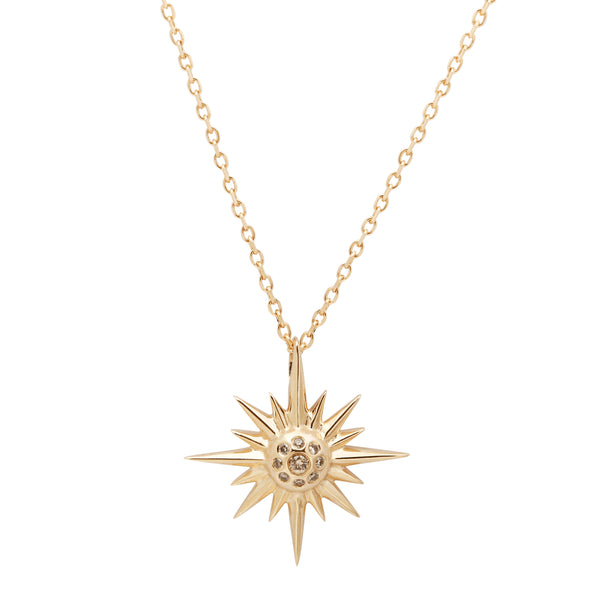 Supernova Diamond Star Necklace