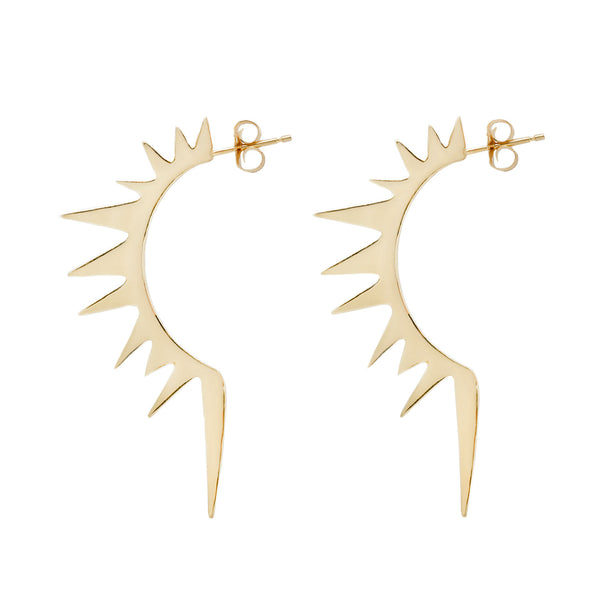 Solar Flare Half Hoop Earrings
