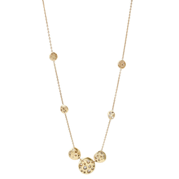 Polly Wales Cosmos Disc Necklace
