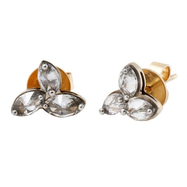 TAP by Todd Pownell Gray Diamond Cluster Stud Earrings