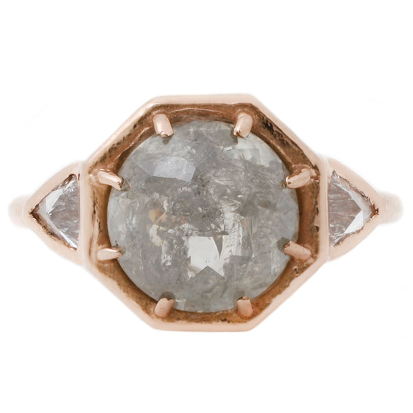 Lauren Wolf Jewelry Gray Diamond Rose Gold Ring
