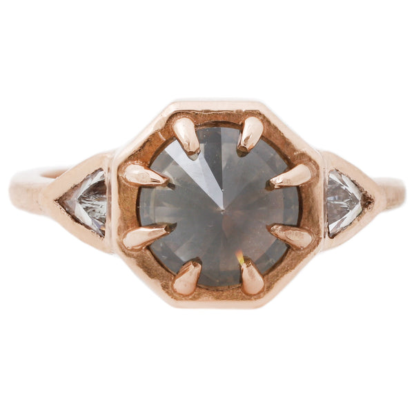 Rose Gold Three Diamond Ring