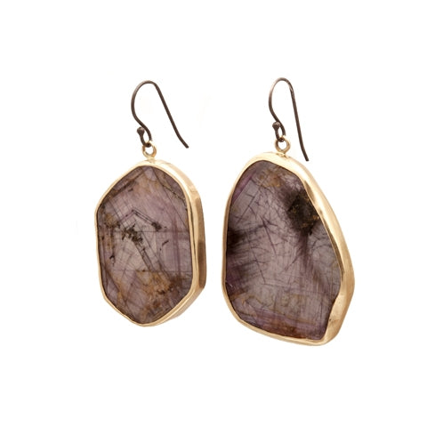 Lauren Wolf Ruby Slice Drop Earrings