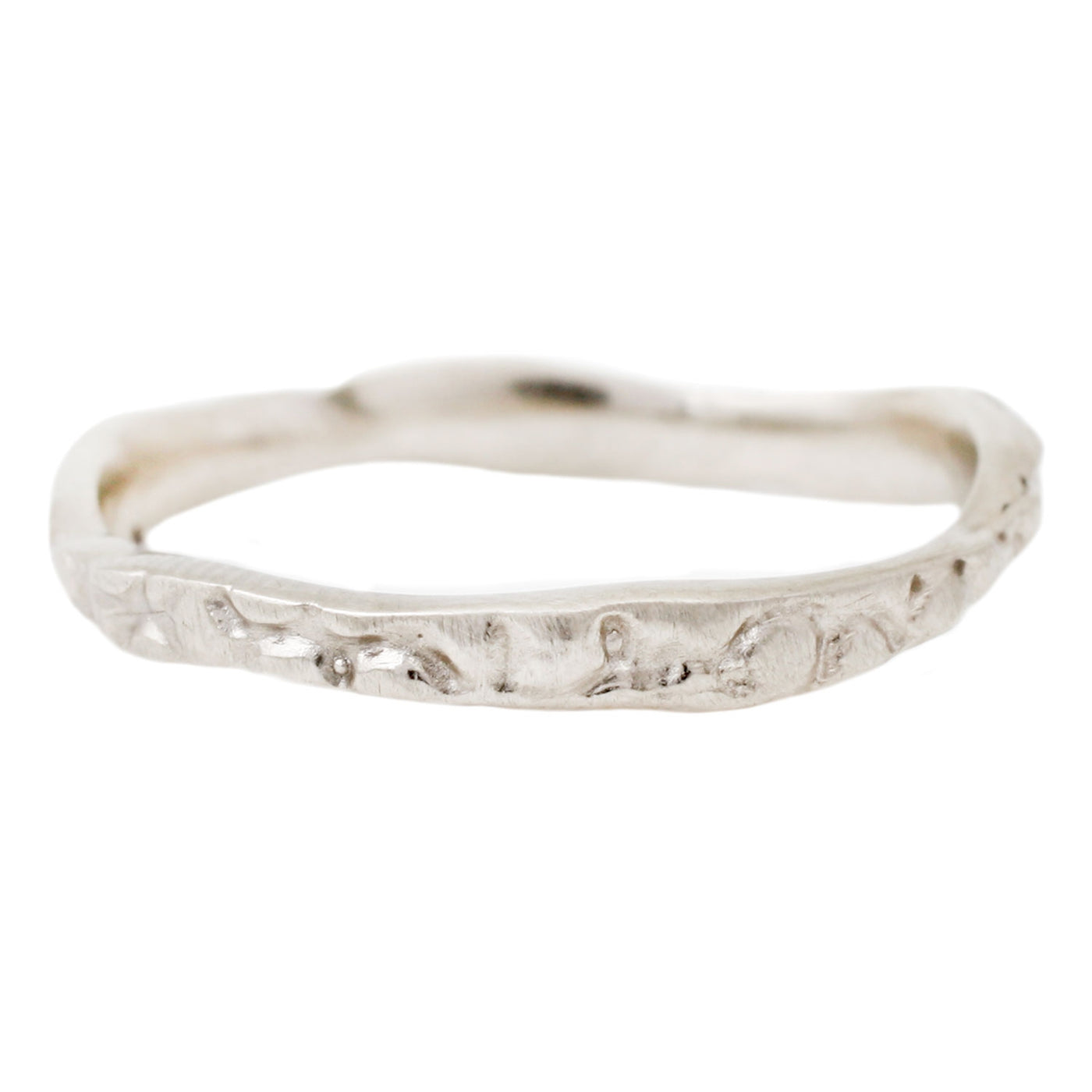 Lauren Wolf Jewelry White Gold Stingray Stacking Band