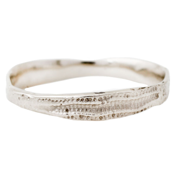 White Gold Urchin Stacking Band