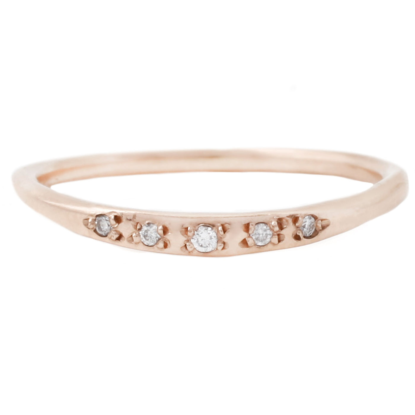Luana Coonen Rose Gold Starry Arch Ring