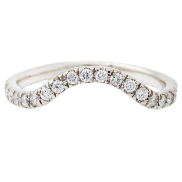 White Gold White Diamond Nesting Band