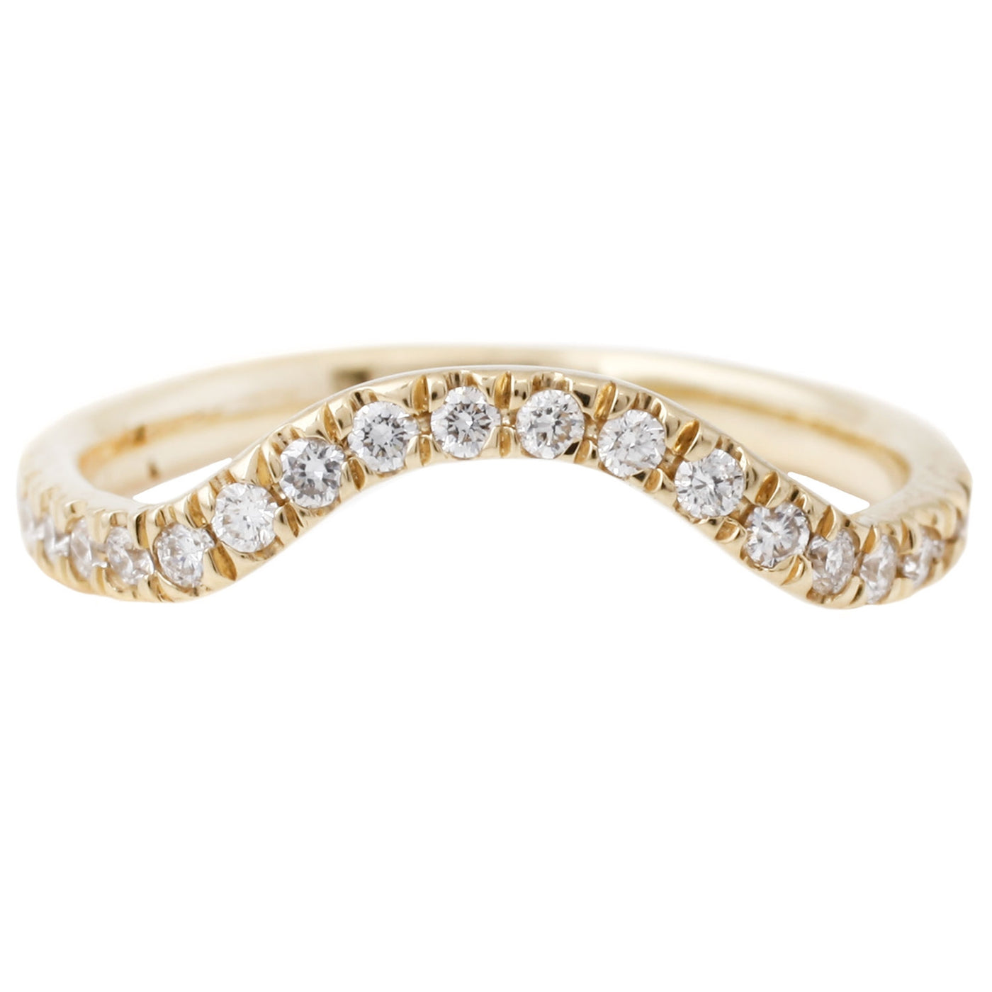 Lauren Wolf Yellow Gold White Diamond Nesting Band