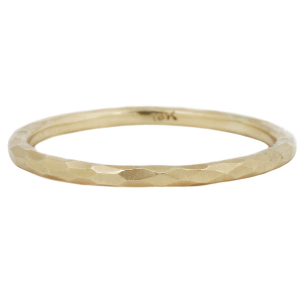 Sarah Swell Faceted Gold Band