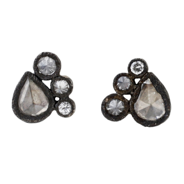 TAP by Todd Pownell Four Diamond Bezel set Stud Earrings