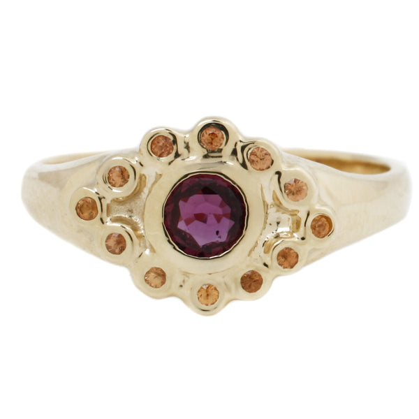 Scosha Ruby Evil Eye Ring