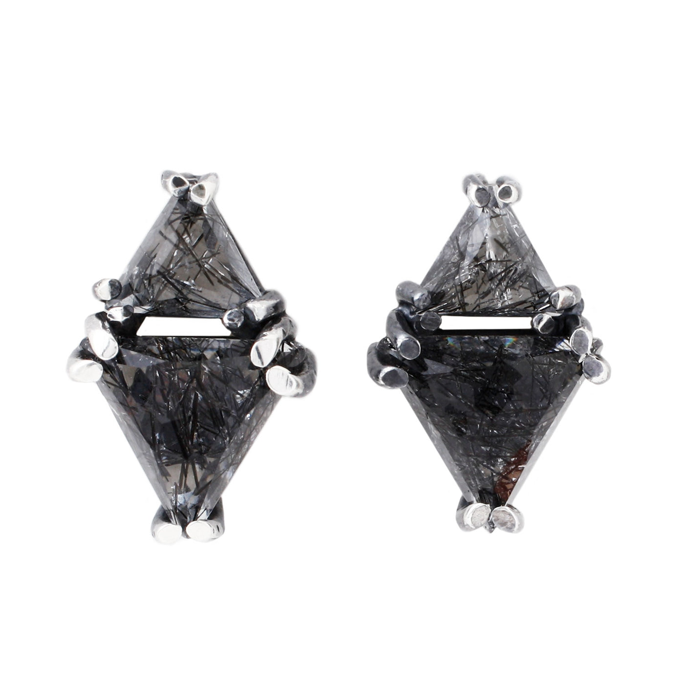 Michael Spirito Double Triangle Studs
